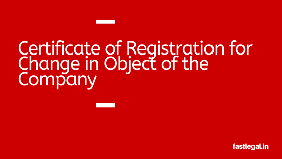 Certificate for Object Change