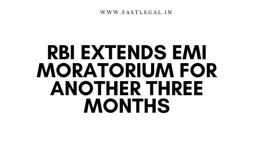 EMI moratorium