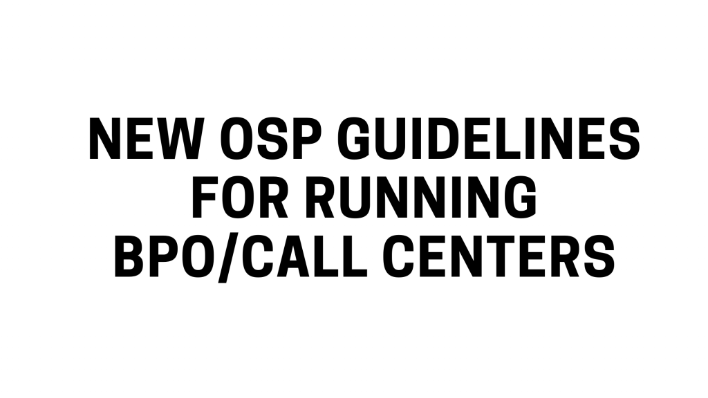 OSP Guidelines