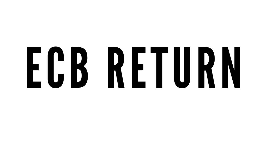 ECB RETURN